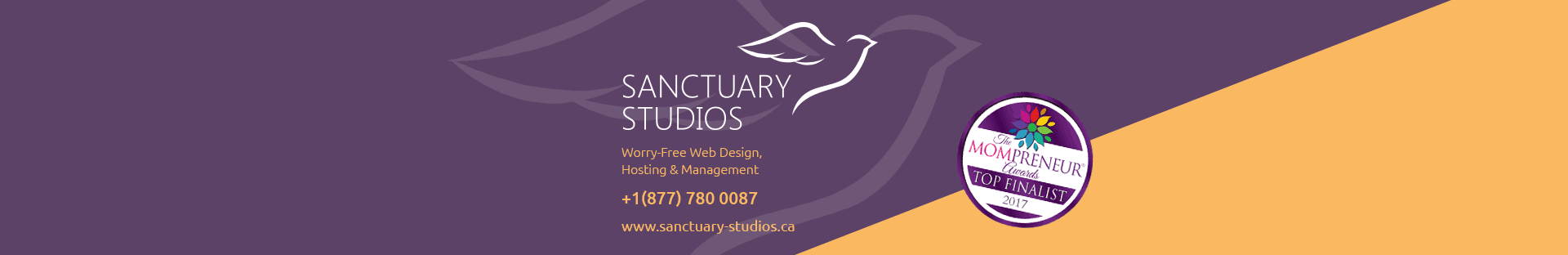 Worry-Free Web Design - Sanctuary Studios Inc., and Michelle Emson, Finalists for the 2017 Mompreneurs® Momentum Award